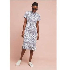 Anthropologie LEA EMBROIDERED DRESS new
